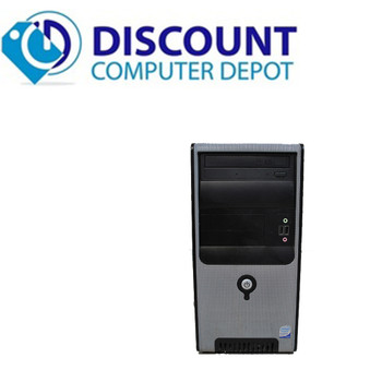 """Fast Desktop Computer PC Windows 10 Core 2 Duo Tower 2.93GHz 4GB 160GB 17"""" LCD"""