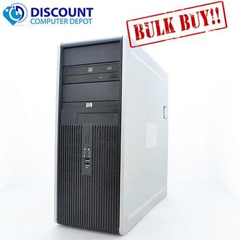 Lot of 5 HP DC Desktop PC Computer Tower Windows 10 Pro Dual Core 8GB 500GB