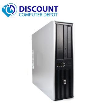 """Fast HP Windows 10 Desktop Computer PC  4GB 80GB 19"""" LCD DVD"""