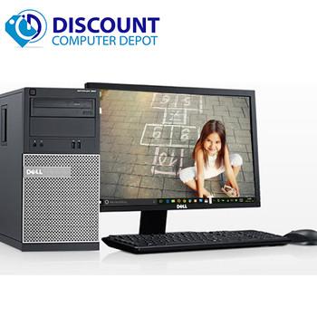 "Dell Optiplex Windows 10 Desktop Computer Tower Quad Core i5 3.1GHz 16GB 1TB w/22"" LCD and  Dedicated Graphics"