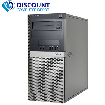 "Dell Optiplex 790 Desktop Computer Windows 10 Pro i3 3.1GHz 8GB 80GB SSD Dual 19"" LCD'S"