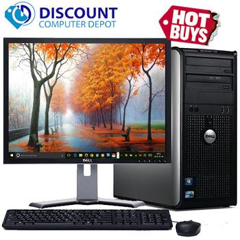 """Fast Dell Optiplex Desktop Computer PC Core 2 Duo 2.13GHz 4GB 250GB 19"""" LCD Wifi"""