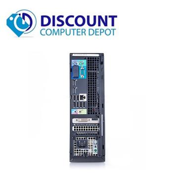 "Dell Optiplex 3010 Windows 10 Pro Desktop Computer PC Quad Core i5 8GB 120GB SSD Dual 22"" LCD Wifi"