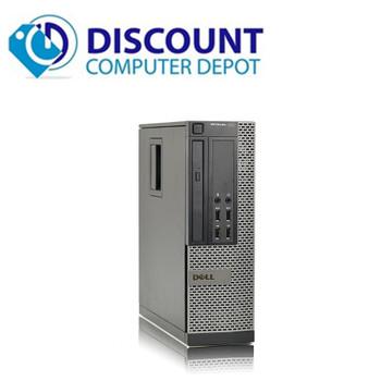 "Dell Optiplex 3010 Windows 10 Pro Desktop Computer PC Quad Core i5 8GB 320GB Dual 19"" LCD Wifi"