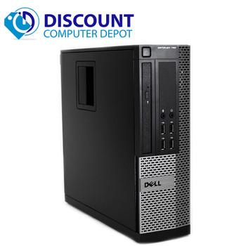 """Dell Desktop Computer Quad i5 3.1GHz Win10 Pro w/ Dual 2x19"""" Dell Monitors 4gb 250gb"""