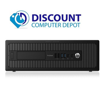 """HP ProDesk 600 G1 Windows 10 Desktop Computer PC i3 3.4GHz 8GB 500GB with Dual 19"""" Widescreen LCD Monitors and Wifi"""