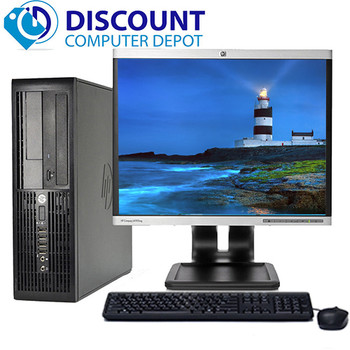 "HP Desktop Computer PC Core 2 Duo 2.6GHz 4GB 160GB DVD WiFi 19"" LCD Windows 10"