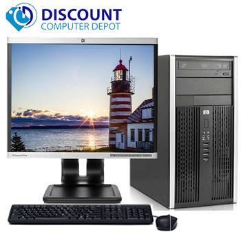 "HP Pro Desktop Computer Tower 2.8GHz 4GB 500GB 17""LCD Windows 10 Pro Wifi DVD-RW"