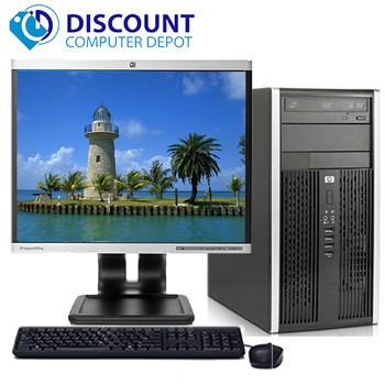 "HP Pro Desktop Computer Tower PC 2.8GHz 4GB 1TB 19""LCD Windows 10 Wifi DVD-RW"