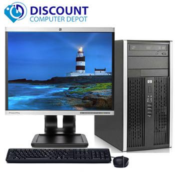 "HP Pro Desktop Computer Tower PC 2.8GHz 4GB 1TB 17""LCD Windows 10 Wifi DVD-RW"
