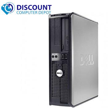 """Dell Optiplex Desktop Computer PC 4GB 500GB HDD Dual 19"""" LCD's Wifi Windows 10"""