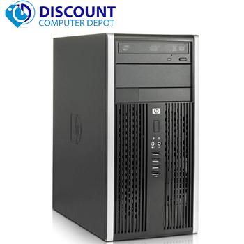 "HP Elite/Pro Desktop Computer PC 4GB 500GB HDD Dual 19"" LCD's Wifi Windows 10"