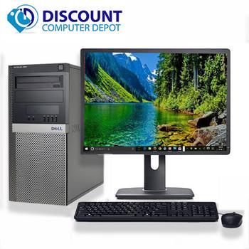 "Dell 960 Desktop Computer Tower C2D 3.0GHz 8GB 1TB 19""LCD Windows 10 Wifi DVD-RW"