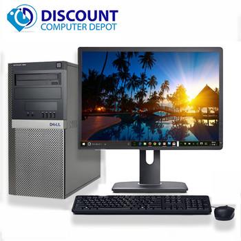 "Dell 960 Desktop Computer Tower C2D 3.0 8GB 250GB 19""LCD Windows 10 Wifi DVD-RW"