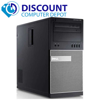 Dell Optiplex Windows 10 Desktop Computer Tower Quad Core i5 HDMI 8GB 80GB Keyboard Mouse Wifi