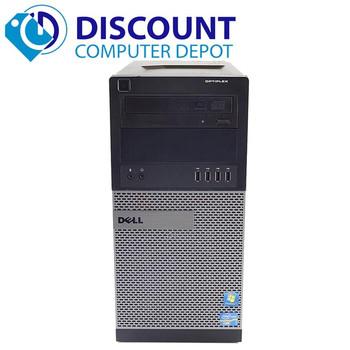 "Fast Dell Optiplex 390 Windows 10 Pro Tower Computer Core i3 3.1GHz 4GB 320GB 19"" LCD"