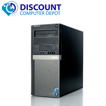 Dell Optiplex 960 Tower Windows 10 Home 3.0GHz Core 2 Duo Desktop Computer 4GB 250GB