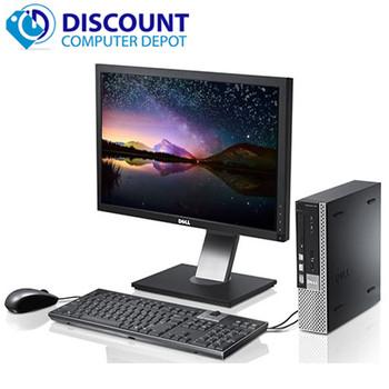 """Fast Dell Optiplex 990 USFF Desktop Core i5 4GB 250GB Win10 Pro WiFi W/22"""" LCD"""