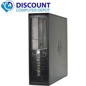 "HP Elite 4300 Desktop Computer PC Windows 10 Pro i5 8GB 500GB Dual 19""LCDs Wifi"