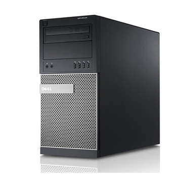 """Dell Optiplex 7020 Tower Computer Intel i5-3470 3.2GHz 8GB 480GB SSD Windows 10 Pro with 2 dual video cards and 3 dell 22"""" lcd monitors"""