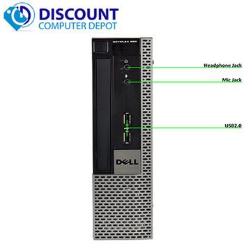"""Fast Dell Optiplex 990 USFF Desktop Computer Core i5 4GB 250GB Win10 Home WiFi W/19"""" LCD"""