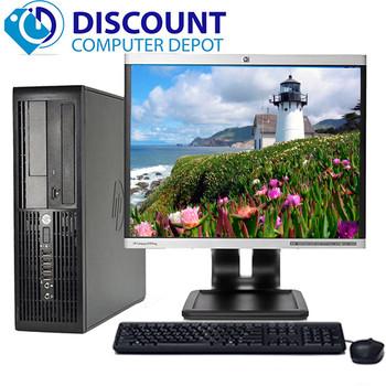 "HP RP5700 Desktop Computer PC Core 2 Duo 2.6GHz 4GB 160GB DVD WiFi 17"" LCD Windows 10"