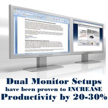 """Dell Optiplex Windows 10 Pro Desktop Computer Core 2 Duo 2.13Ghz 4GB 80GB Dual 17"""" LCD's"""