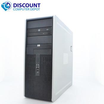 HP DC Desktop Computer Tower Windows 10 Intel 1.8GHz 4GB 250GB