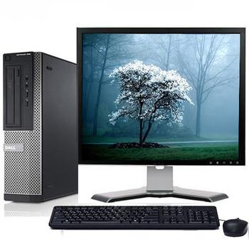"Fast Dell Optiplex Desktop Computer PC Intel i3 3.1GHz DVD Wifi 17"" LCD Windows 10"