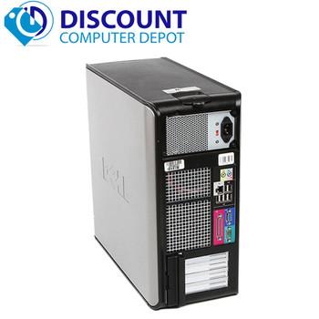 """FAST Dell Optiplex Windows 10 Desktop Computer Tower C2D 4GB DVD WiFi 17"""" LCD"""