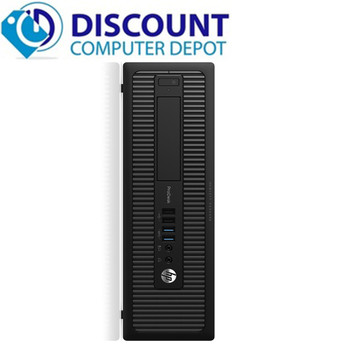 "HP ProDesk G1 Windows 10 Pro Desktop Computer PC Core i5 3.2GHz 8GB 1TB 22"" Dell Monitor"