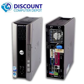 Dell Optiplex USFF Desktop Computer PC C2D Windows 10 Home 4GB 160GB DVD