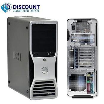 """Dell Precision T3400 Windows 10 Pro Workstation Computer C2D 8gb 500gb 22"""" LCD"""
