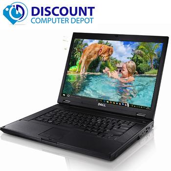 """Dell Latitude E5500/E6500 15.4"""" Windows 10 Home Laptop PC Intel Core 2 Duo 4GB Ram 250GB WIFI DVD"""