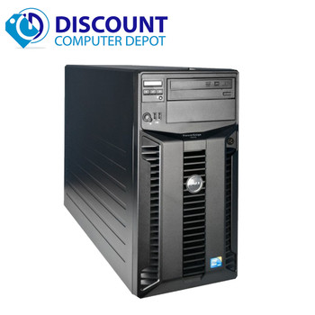 """Dell PowerEdge T310 Workstation Server Intel Xeon 2.4GHz 16GB 2 1TB HDD's Windows 10 Pro Keyboard Mouse 19"""" LCD Monitor"""