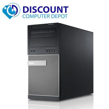 """Dell Optiplex 790 Computer Tower 19"""" LCD Core i5 8GB 320GB Windows 10 Pro WiFi"""
