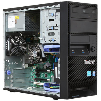 Lenovo ThinkServer Computer Tower PC Intel Xeon 3.2GHz CPU 8GB 500GB DVD Windows 10 Professional