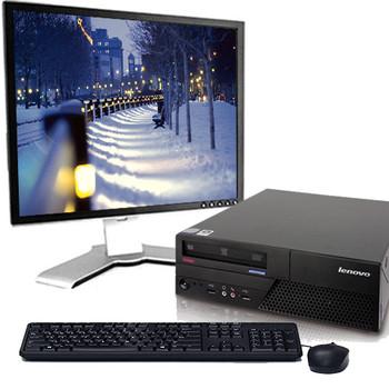 "Lenovo M58 C2D 2.1GHz 1st gen Desktop 4GB RAM 80GB Reg SATA Win 10 Home 19"" LCD"