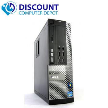 """Dell Core i7 Windows 10 Pro Desktop Computer SFF PC 8GB 500GB Dual 22"""" Key Mouse"""