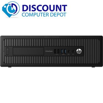 "HP EliteDesk 800 G1 Desktop Computer Intel Core i5 3.2GHz 8GB 256GB SSD Windows 10 Pro Dual 22"" LCDs"