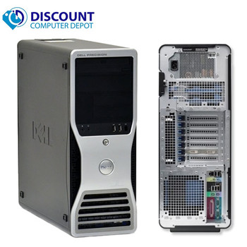 """Dell Precision T3500 Workstation Windows 10 Pro Xeon 2.93GHz 24GB 2TB DVD-RW Wifi 1GB Graphics Card with a 22"""" LCD"""