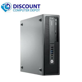 "HP EliteDesk 800 G1 Desktop Computer Core i5 16GB 512GB SSD Windows 10 Pro and Dual 22"" Monitors"