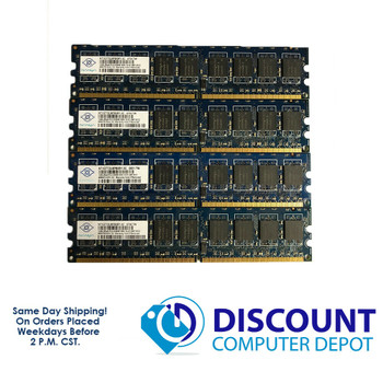 Nanya 4GB 1GBx4 2Rx8 PC2-5300E NT1GT72U8PB0BY-3C NON-REG ECC Memory RAM