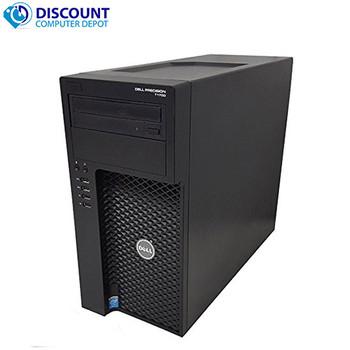 "Dell Precision T1700 Workstation and Gaming PC Bundle // Intel i7 Processor // 16GB RAM // 128GB SSD // 1TB Hard Drive // 4GB nVIdia GTX 745 Graphics Card // Windows 10 Professional // 24"" HP ZR24w IPS LCD Monitor"