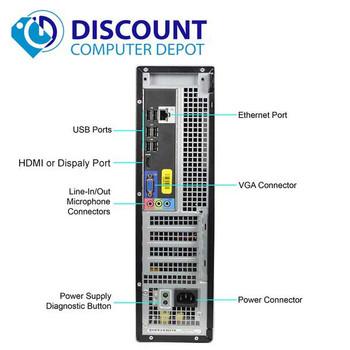 Fast And Dependable Dell Desktop   Intel Core i3   8GB RAM   500GB HDD   WIFI   Windows 10 Pro
