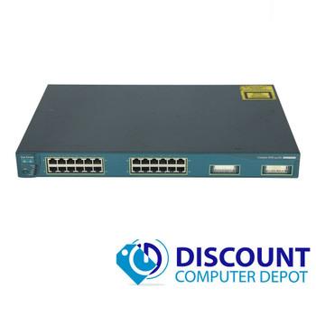 Cisco Catalyst C3524-PWR-XL-EN 24 Port  Managed Fast Ethernet Switch 2x GBIC