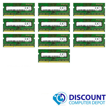 10x Mixed Brand 2GB 1Rx8 PC3-12800s DDR3 1600Mhz SODIMM Laptop Memory Lot
