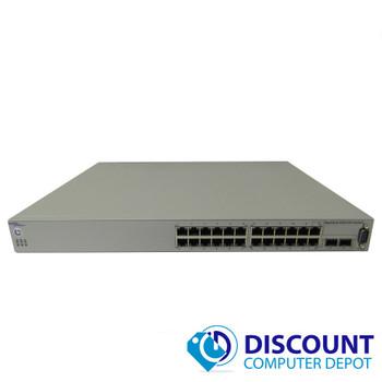 Avaya Nortel Baystack 5510-24T 24 Port Gigabit Ethernet Network Switch 2x SFP