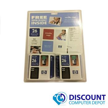 NEW HP Inkjet Print Cartridge 26 Black two pack 2x HP 51626A Desktop Officejet