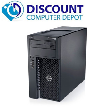 """Dell Precision T1650 Workstation Computer PC Xeon 3.4GHz 32GB 1TB Windows 10 Pro with Dual 22"""" LCD Monitors and BLUETOOTH"""